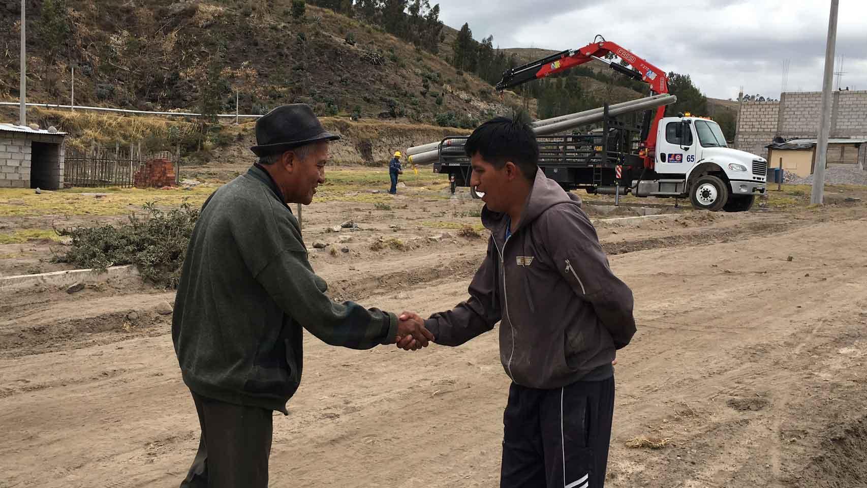 Extensión de redes eléctricas en Bellavista del Sur es obra de la EERSA