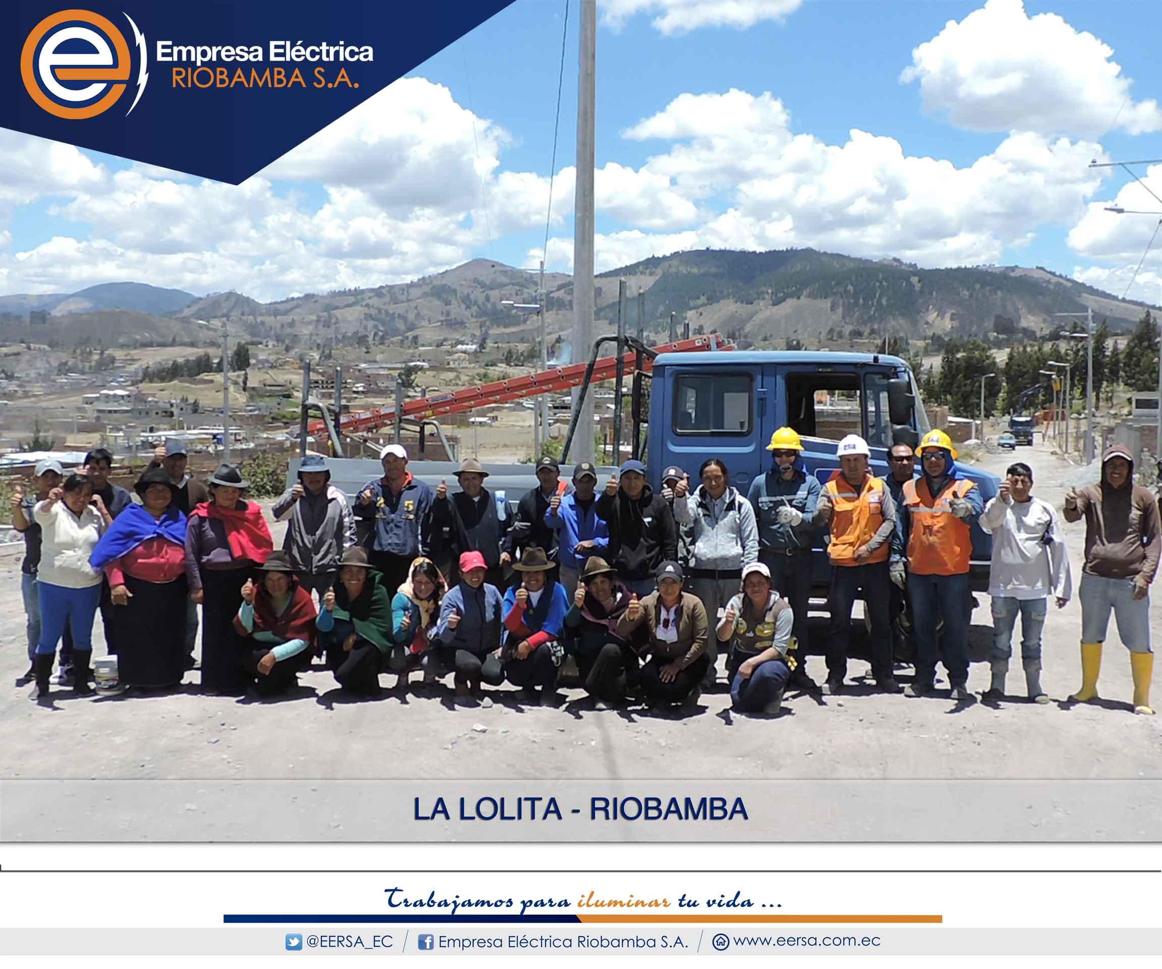 EERSA construye proyectos eléctricos en La Lolita