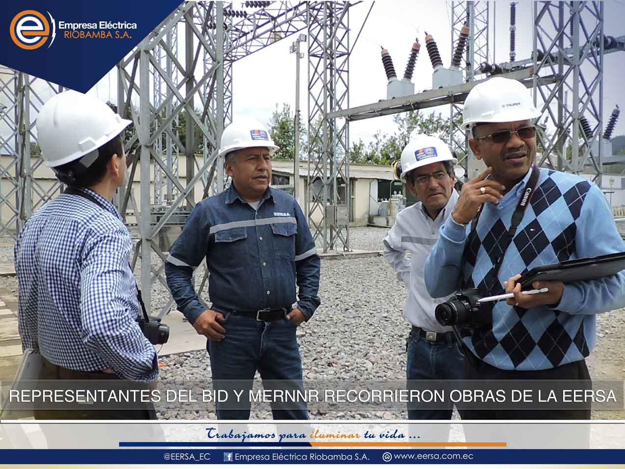BID monitorea proyectos de la EERSA