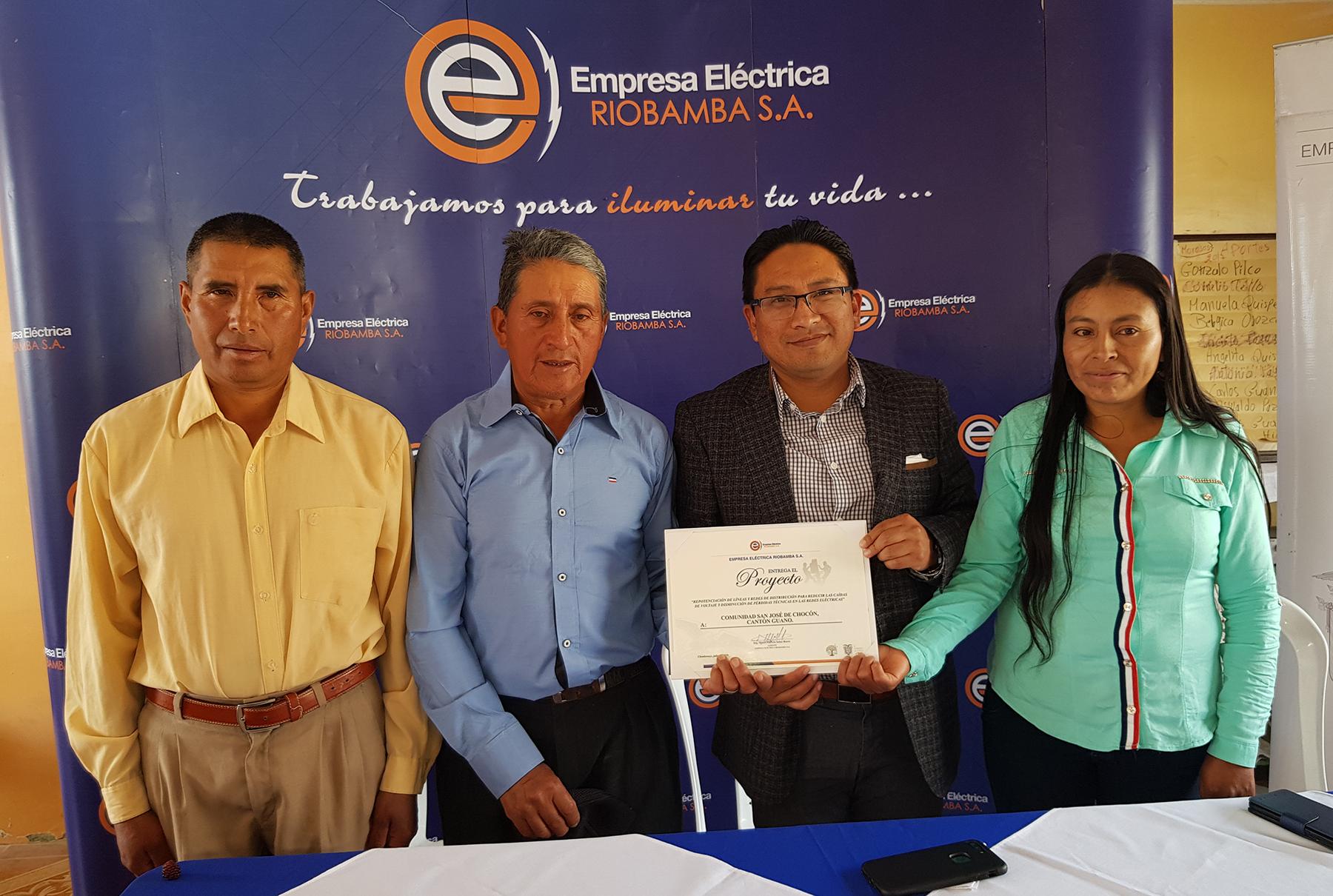 Entregado proyecto de la EERSA en San José de Chocón