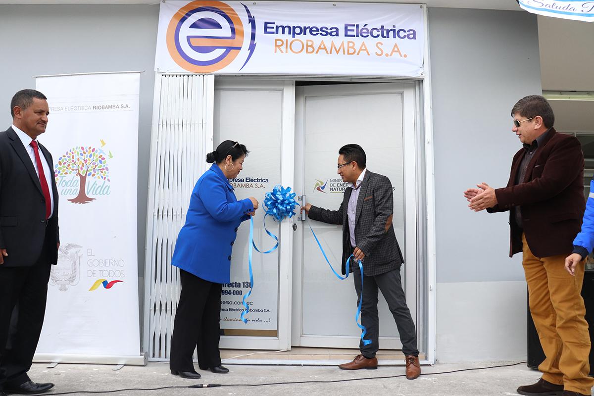 Agencia de la EERSA se inauguró en Penipe
