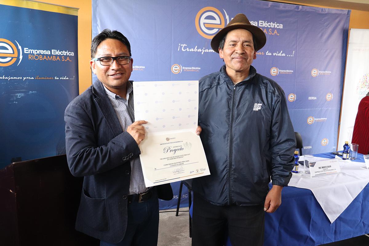 Proyectos de la EERSA entregados en sectores rurales