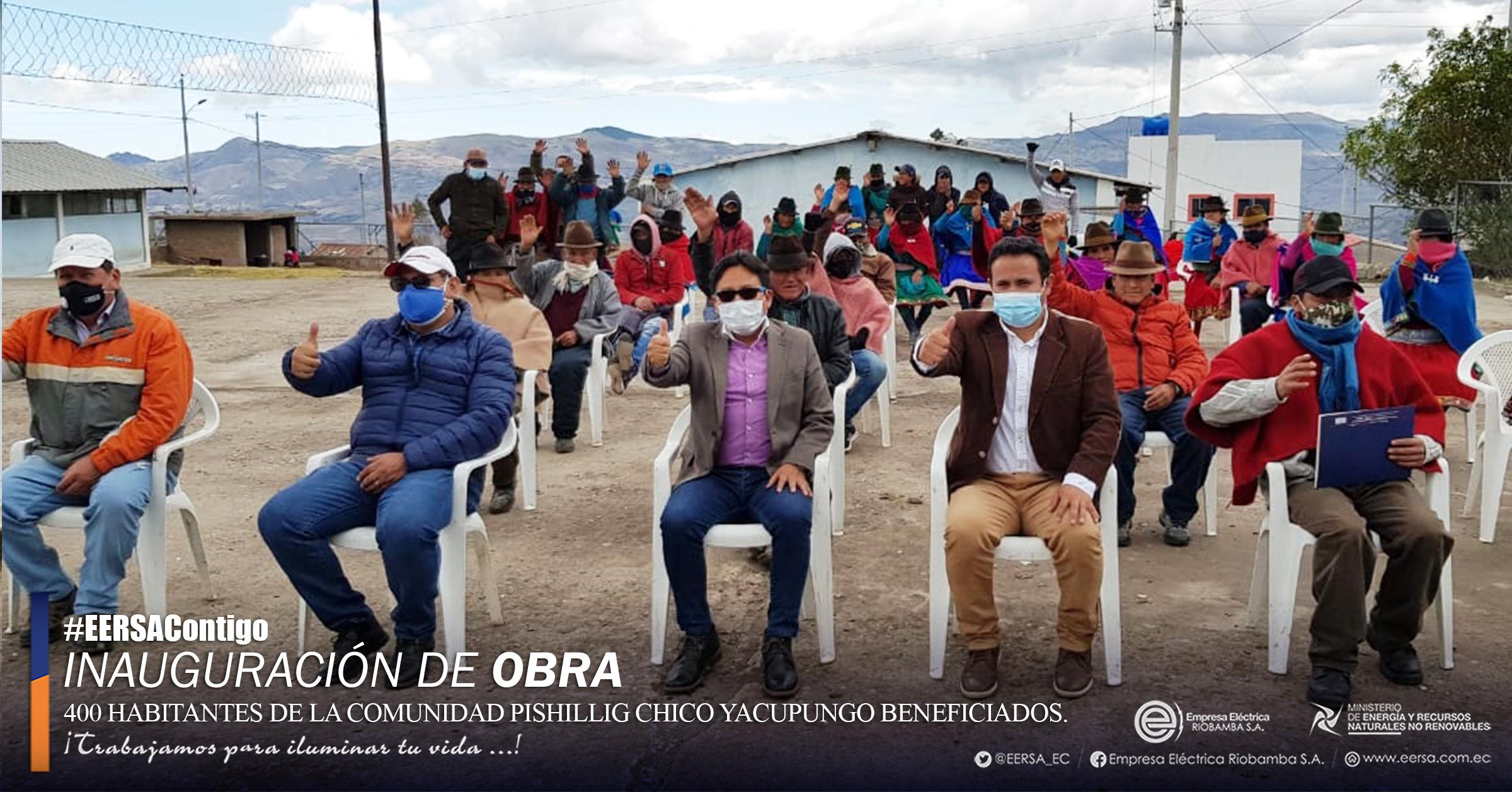 400 habitantes de Pishillig Chico beneficiados con obra eléctrica