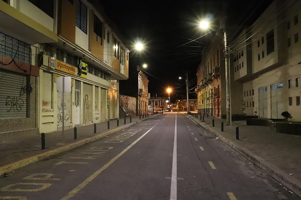 EERSA mejoró alumbrado público en barrios de Riobamba